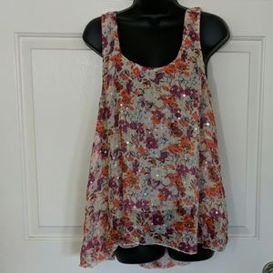 Sanctuary Floral Silk Top